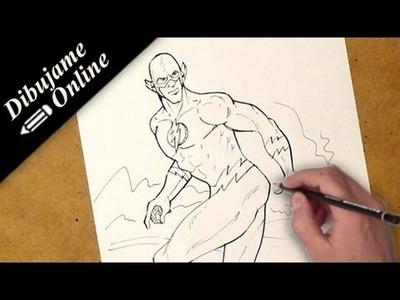 Como dibujar a flash | como dibujar a flash paso a paso