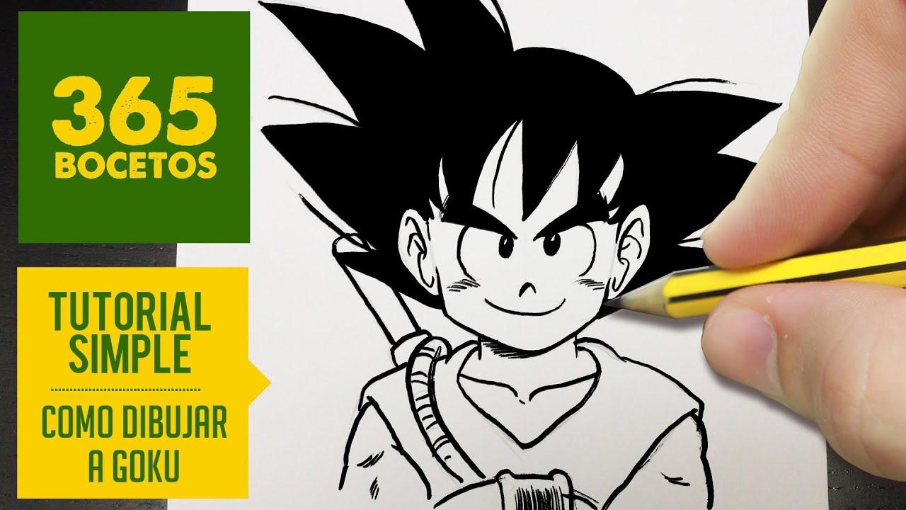 COMO DIBUJAR A GOKU PASO A PASO A LAPIZ -  How to draw goku - Dragon ball