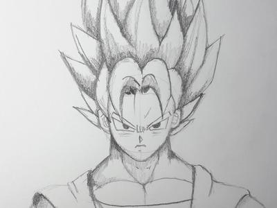 Como dibujar a Goku SSJ paso a paso [El Dibujante]