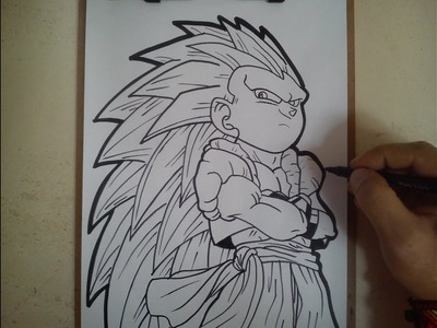 COMO DIBUJAR A GOTENKS SSJ3. how to draw gotenks ssj3