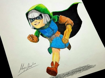 Cómo Dibujar A La BANDIDA De CLASH ROYALE.How To Draw BANDIT Of CLASH ROYALE-MagicBocetos