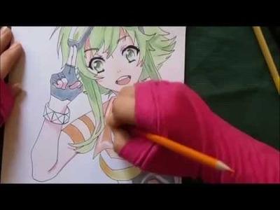 Como dibujar a Megpoid Gumi