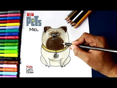 Como dibujar a MEL (La Vida Secreta de tus Mascotas) | Drawing Mel (The Secret Life of Pets)