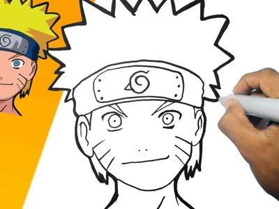 Como dibujar a NARUTO paso a paso | how to draw NARUTO step by step