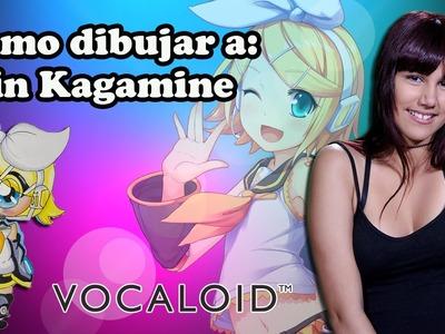 Como dibujar a Rin Kagamine-chibi-kawaii-Vocaloid-How to draw Rin Kagamine