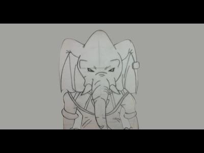 Como dibujar a Rumoosh (Dios Universo 10) -  Paso a paso