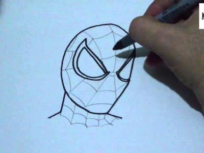 Como dibujar al hombre araña paso a paso |  How to draw spiderman step by step
