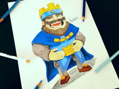 Cómo Dibujar Al REY De CLASH ROYALE.How To Draw KING CLASH ROYALE-MagicBocetos-Tutorial Paso A Paso