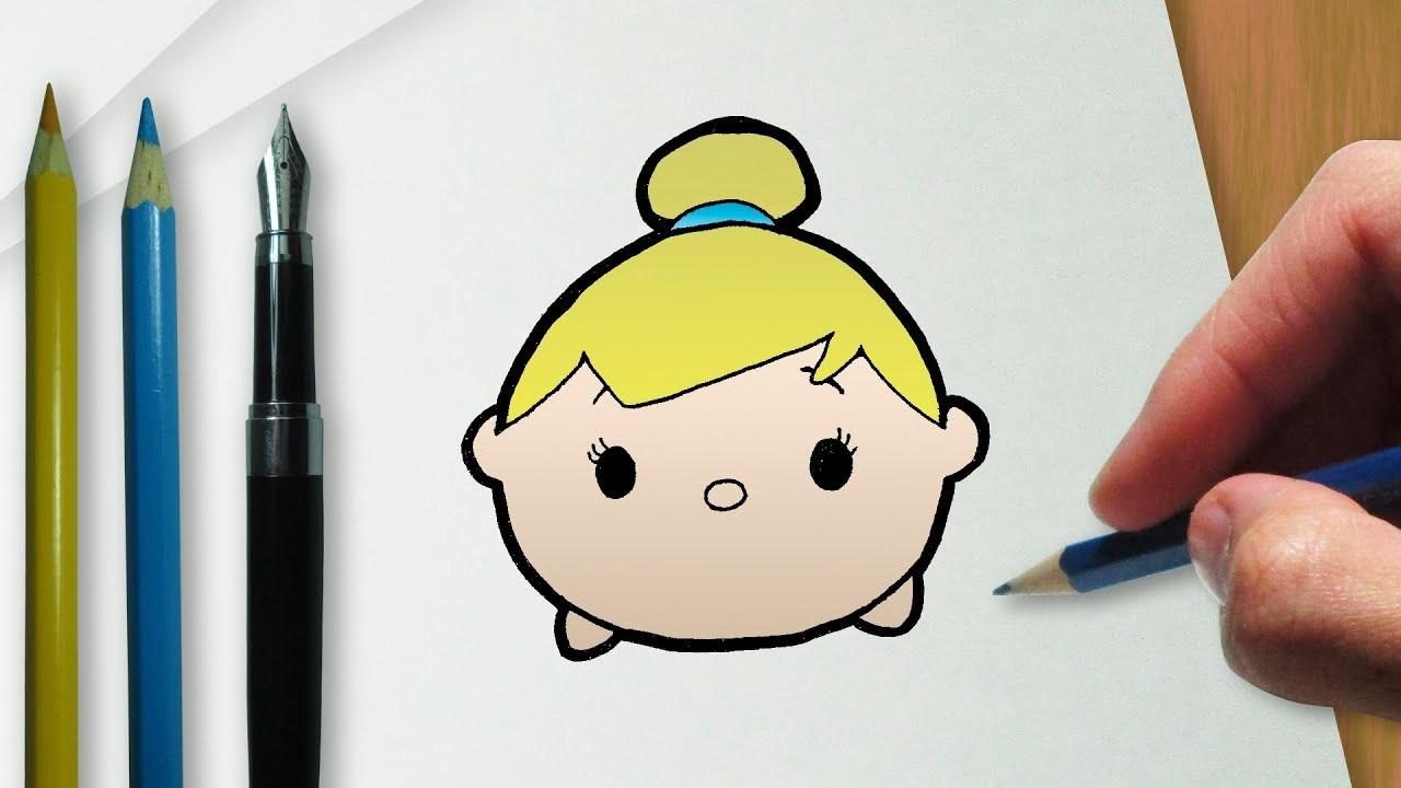 Cómo dibujar Campanilla en la versión Disney Tsum Tsum
