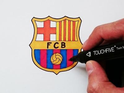 Cómo dibujar el escudo del Barcelona explicado paso a paso