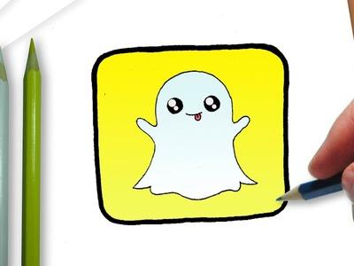 Cómo dibujar el logotipo de Snapchat kawaii