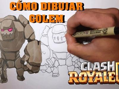 Cómo Dibujar GOLEM De CLASH ROYALE. How To Draw GOLEM- Speed Drawing- Tutorial -MagicBocetos