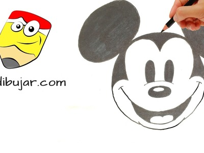 Cómo dibujar la cara de Mickey Mouse clásico | How to draw Classic Mickey Mouse face