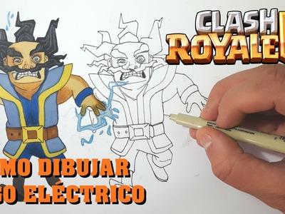 Cómo Dibujar MAGO ELÉCTRICO De CLASH ROYALE-MagicBocetos-Tutorial Paso A Paso