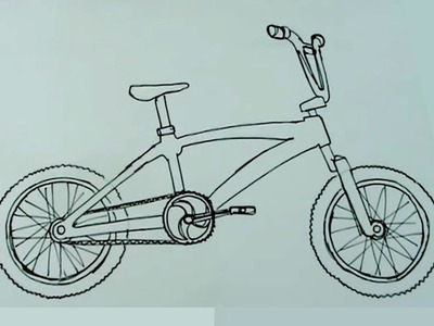 Cómo dibujar muy fácil una biciross, bicicleta cross BMX