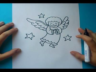 Como dibujar un angel paso a paso | How to draw an angel