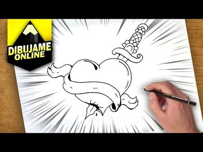 Como dibujar un corazon con una espada   como dibujar un corazon con una espada paso a paso