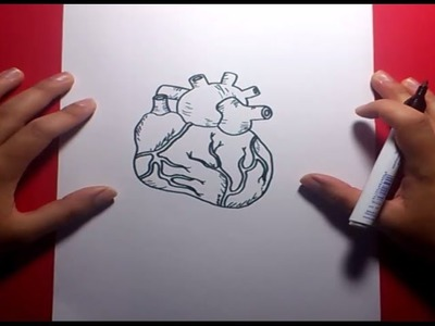 Como dibujar un corazon paso a paso 4 | How to draw a heart 4