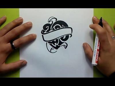 Como dibujar un corazon tribal paso a paso | How to draw a tribal heart