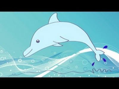 Cómo dibujar un delfín. Dibujos infantiles