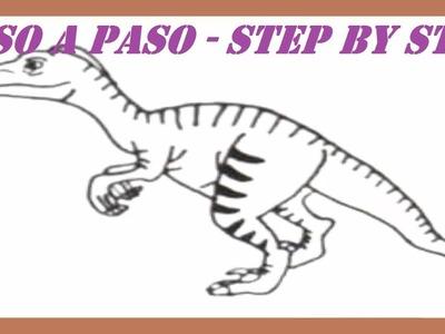 Como dibujar un Dinosaurio Velociraptor l How to draw a Dinosaur Velociraptor