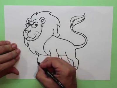 Cómo dibujar un león (Animales africanos) - How to draw a lion (African animals)