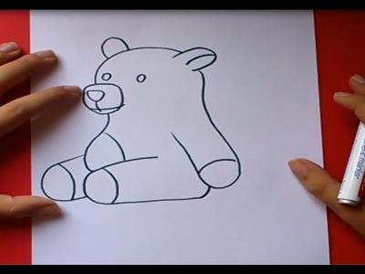 Como dibujar un oso de peluche paso a paso 3   How to draw a teddy bear 3