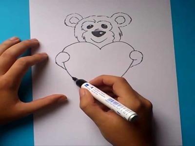 Como dibujar un oso de peluche paso a paso 2   How to draw a teddy bear 2