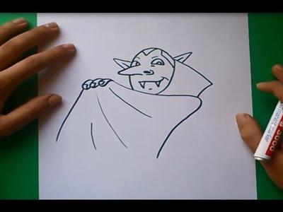 Como dibujar un vampiro paso a paso   How to draw a vampire