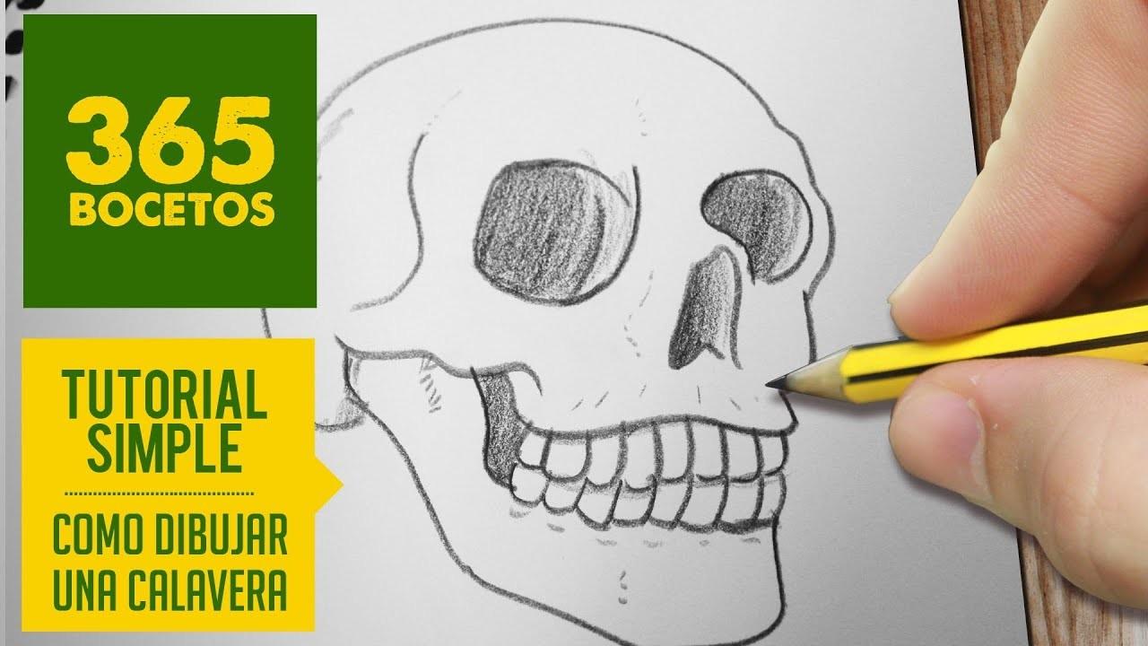 COMO DIBUJAR UNA CALAVERA. how to draw a skull