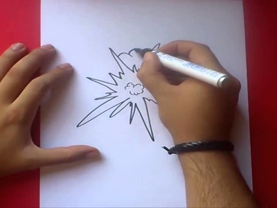 Como dibujar una explosion paso a paso 2 | How to draw an explosion 2