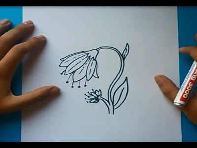 Como dibujar una flor paso a paso 4 | How to draw a flower 4