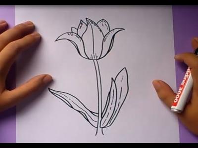 Como dibujar una flor paso a paso 3 | How to draw a flower 3