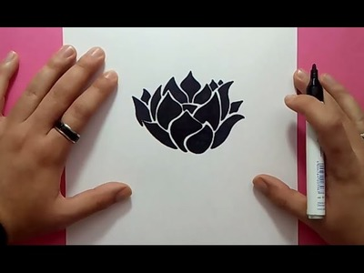 Como dibujar una flor paso a paso 15 | How to draw a flower 15