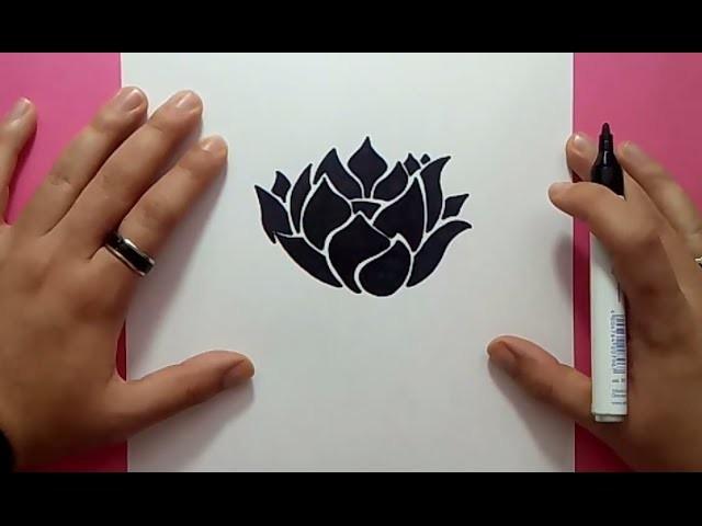 Como dibujar una flor paso a paso 15 | How to draw a flower 15