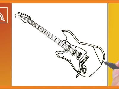 Cómo Dibujar Una Guitarra Eléctrica - How To Draw a Electric Guitar   Dibujando
