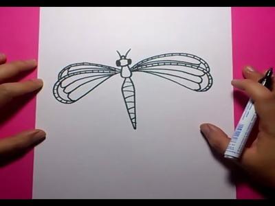 Como dibujar una libelula paso a paso | How to draw a dragonfly