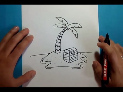 Como dibujar una palmera paso a paso 3 | How to draw a palm tree 3