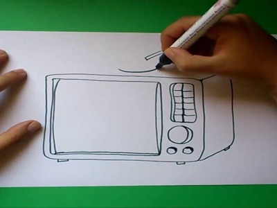 Como dibujar una television paso a paso | How to draw one TV