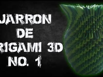 Como hacer un jarrón de origami 3d No. 1.origamileo