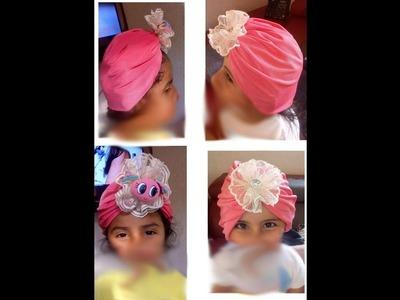 Como hacer  un lindo turbante, TODAS LAS TALLAS. MUY FÁCIL Y RÁPIDO. HAGA NEGOCIO
