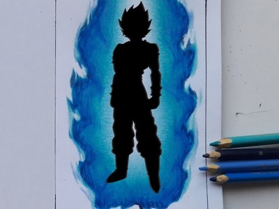 Como pintar solo el aura del ssj blue paso a paso.How to paint the aura of ssj blue