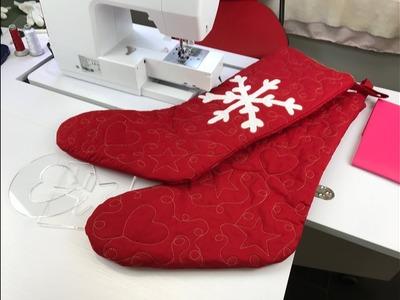 Confección de la bota de Navidad