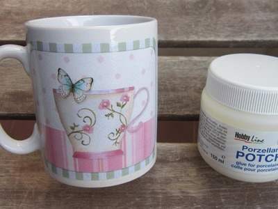 Decoupage en cerámica con papel de decoupage