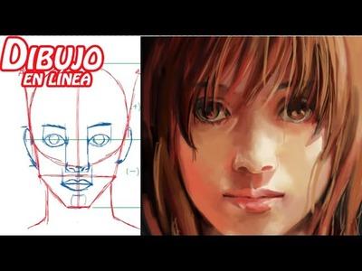 Dibuja el rostro de la mujer (adolescente) explicado