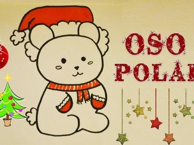 Dibuja osito polar navideño Aprende a Dibujar Dibujin dibujado