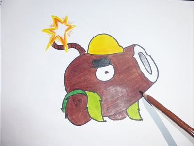 Dibujando y pintando a Cococañon con Casco - Drawing and painting to Cococañon with Helmet