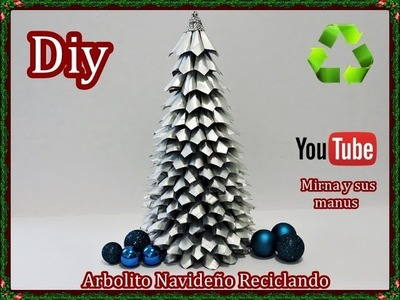Diy.Como hacer un arbolito navideño reciclando. Diy.How to make a Christmas tree recycling.