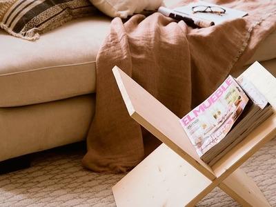 DIY: Cómo hacer un revistero de madera