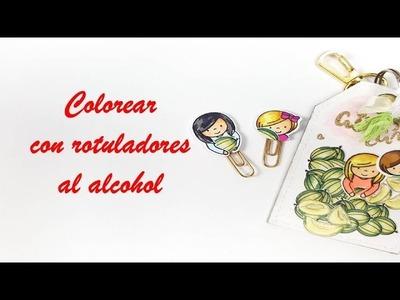 Eskuz Esther 27  Como colorear con rotuladores al alcohol 1ª parte